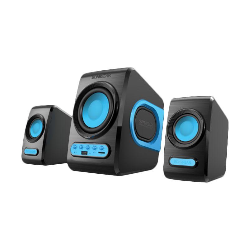 Sonic Gear Quatro V Biru Speaker Komputer