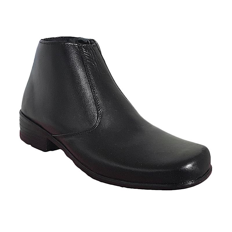 Vindys PDH Ret 03 Sepatu Kulit Boot Klasik - Black