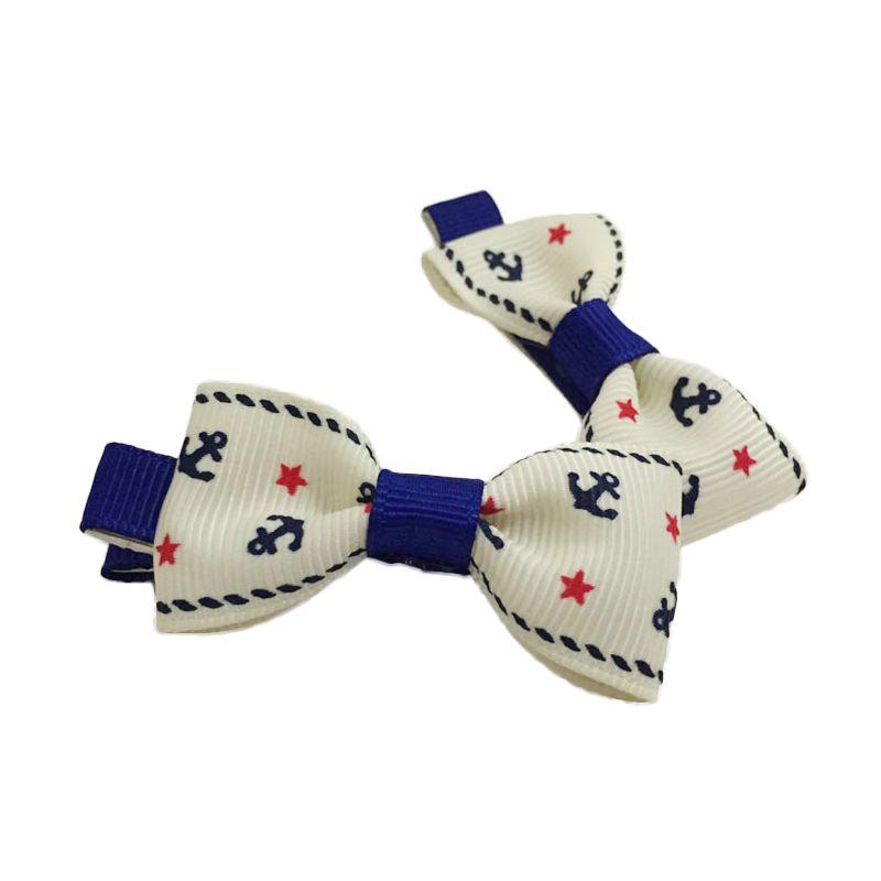 Visse Lilac Putih Biru Hair Clip Jepit Rambut