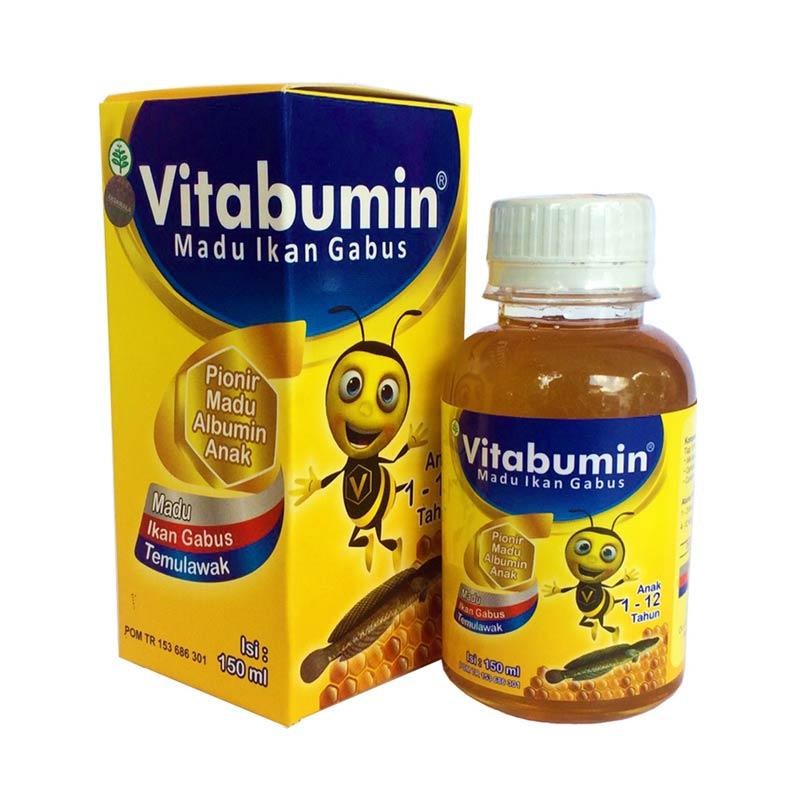 Vitabumin Madu Ikan Gabus [130 mL / Paket 2 Botol]. Brand: Vitabumin