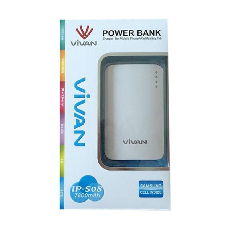 Vivan  oryginal IPS 08 Powerbank - Putih [7800 mAh]