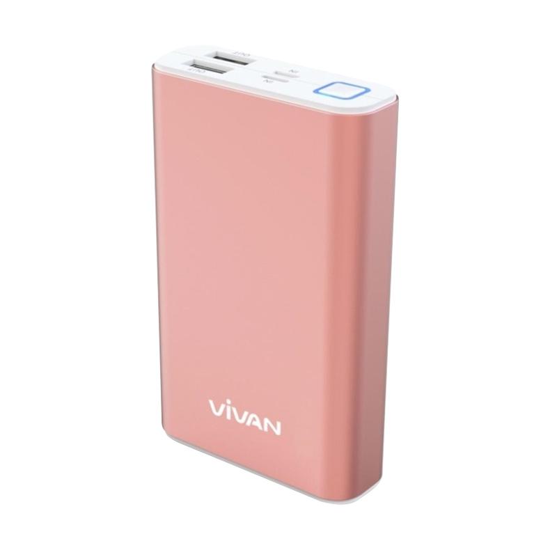 Spesifikasi Vivan M10 Powerbank - Rose Gold [10200 mAh/2 USB Ports] Harga murah Rp 275,000. Beli & dapatkan diskonnya.