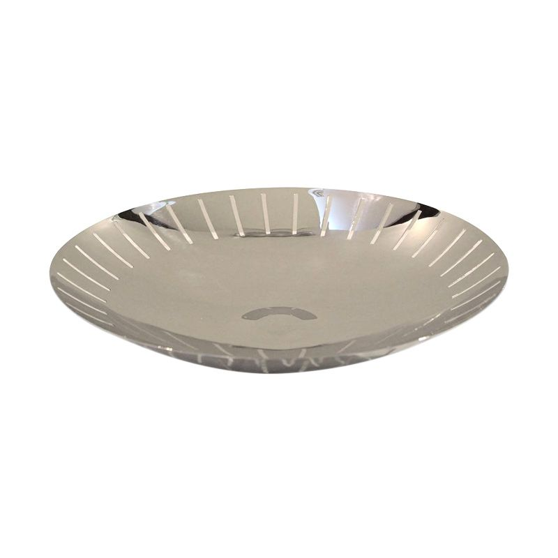 VIVERE Lunar Silver Serve Bowl [36 cm]