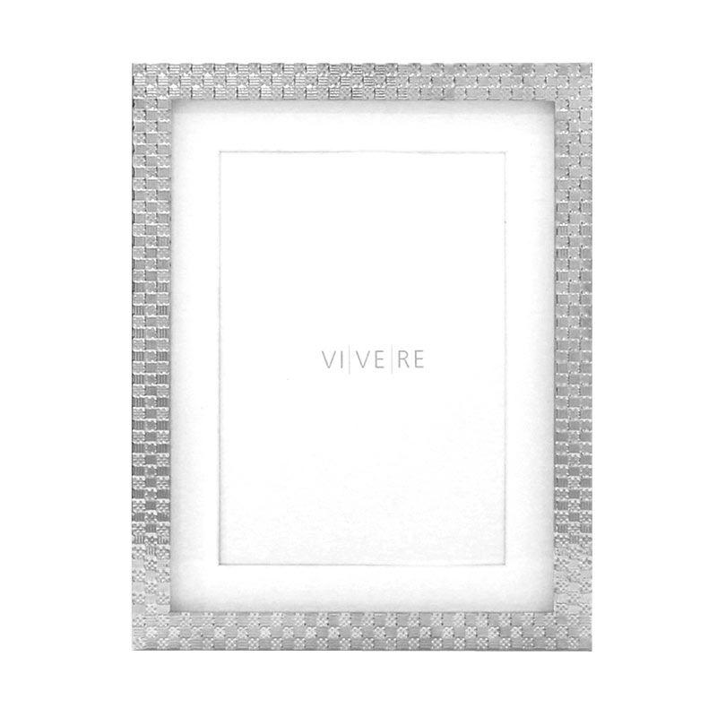VIVERE Pframe Std Checkered Silver 5 x 7 inch