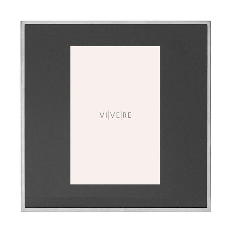 VIVERE Photo Frame Std Merlon 1 Block Black 4 x 6 inch