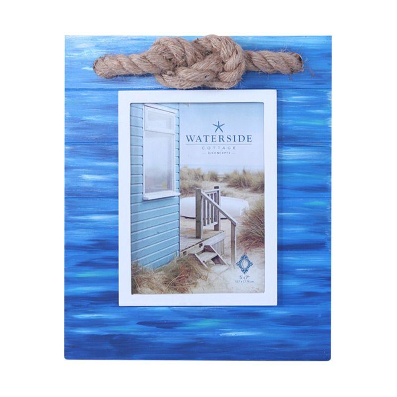 VIVERE Std Anchor Knot Blue Photo Frame [5x7 Inch]
