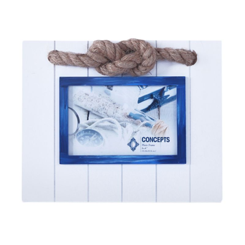 VIVERE Std Anchor Knot White Photo Frame [5x7 Inch]