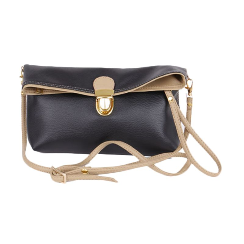 Viyar Hibiscus Black Clutch
