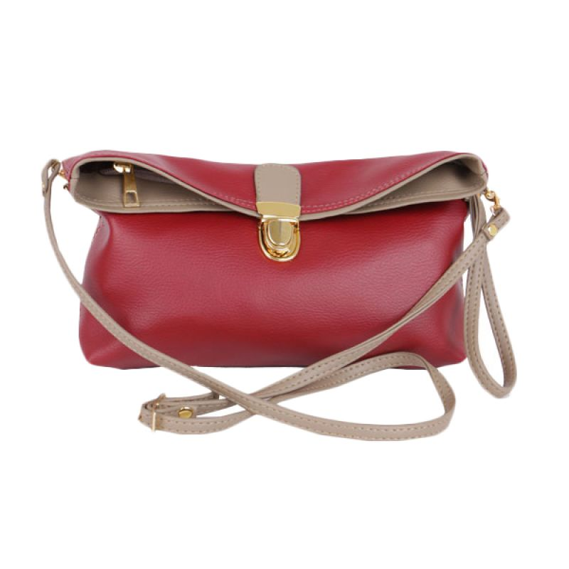 Viyar Hibiscus Dark Red Clutch