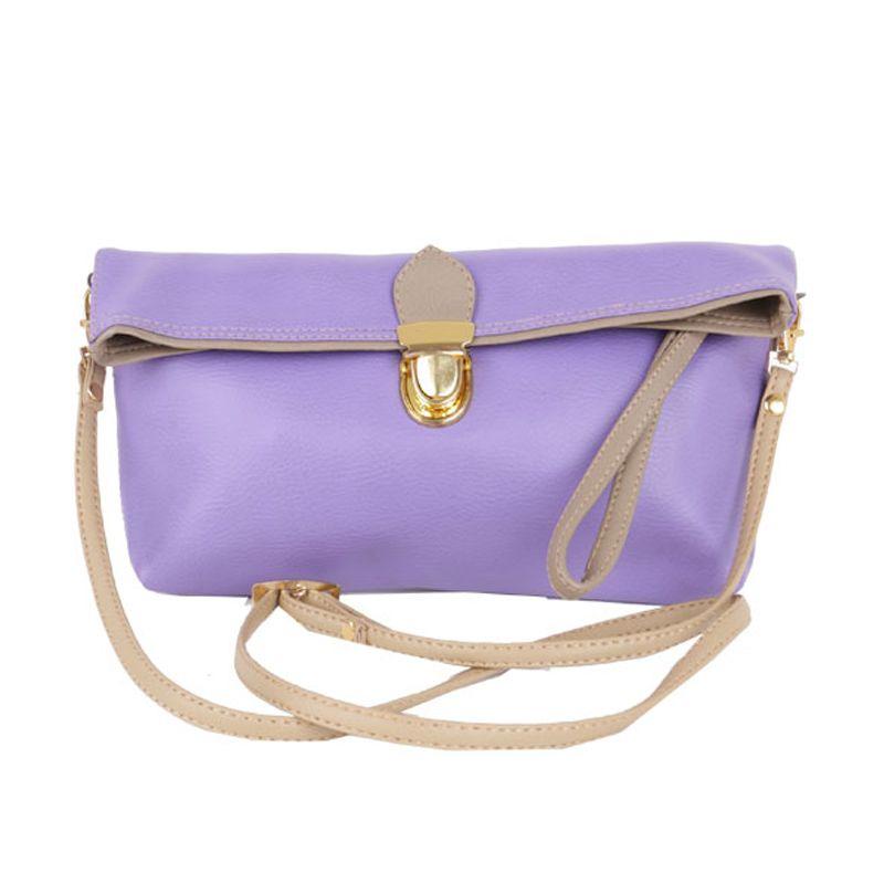 Viyar Hibiscus Light Purple Clutch