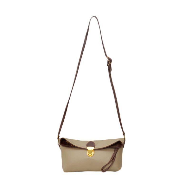 Viyar Hibiscus Mocca Clutch Bag