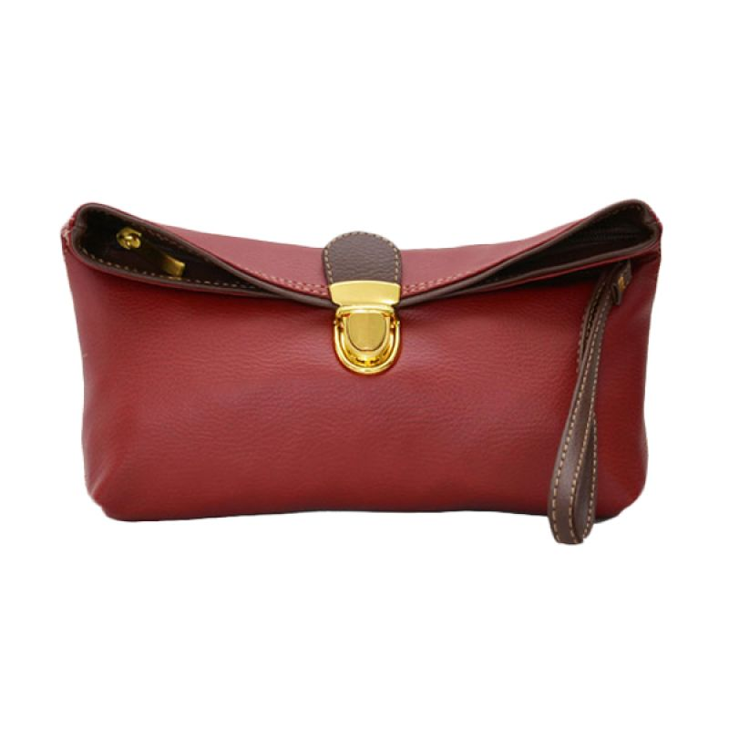 Viyar Sweet Pea Dark Red Clutch