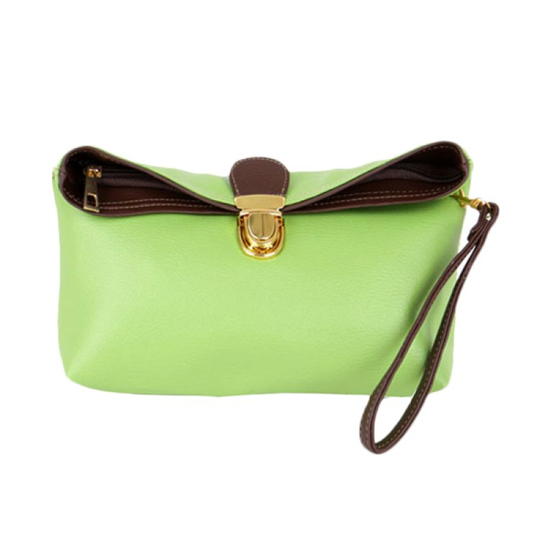 Viyar Sweet Pea Green Clutch
