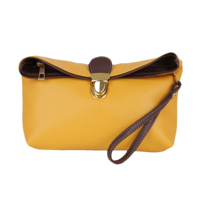 Viyar Sweet Pea Yellow Clutch