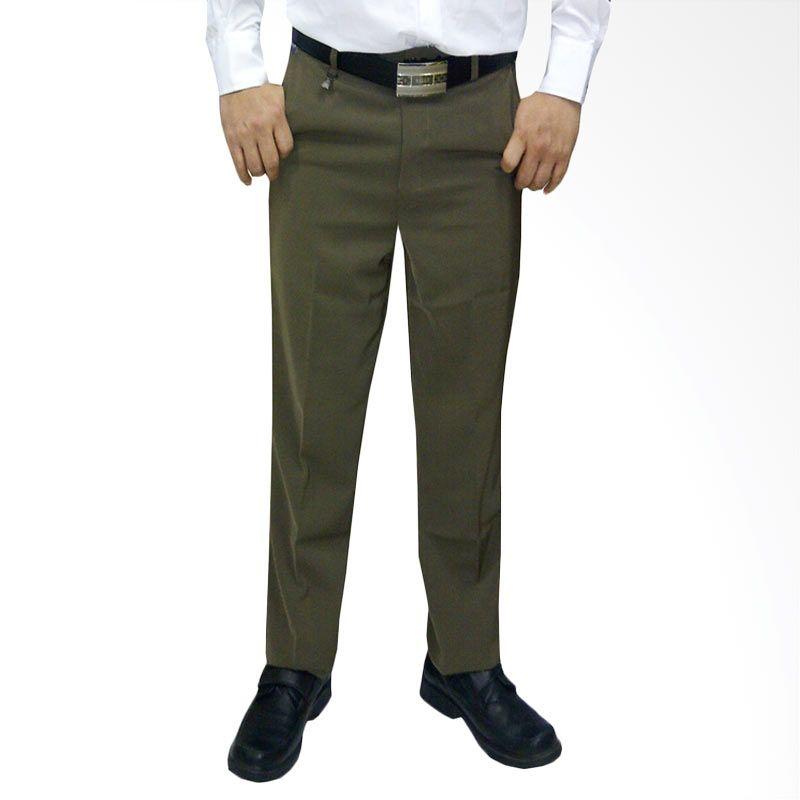 VM Formal Slim Fit Coklat Muda Celana Pria