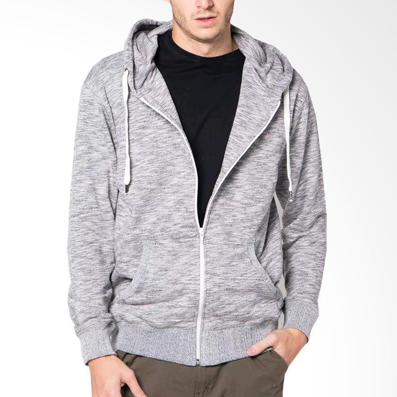 jual vm hoodie sweater soft grey jaket online harga. Black Bedroom Furniture Sets. Home Design Ideas