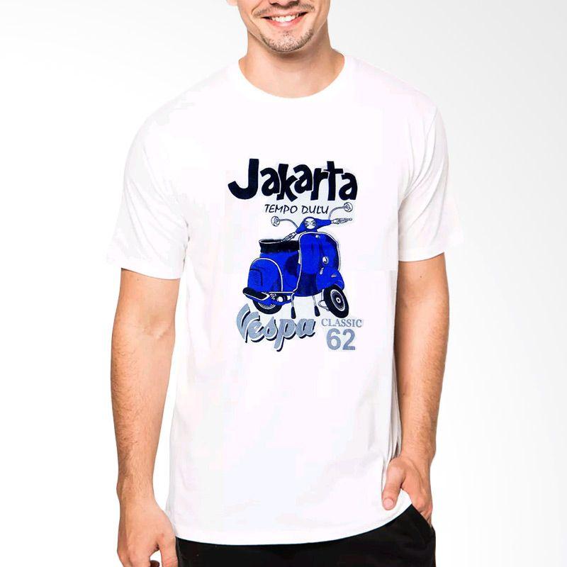 VM O-Neck Jakarta Putih Kaos Pria