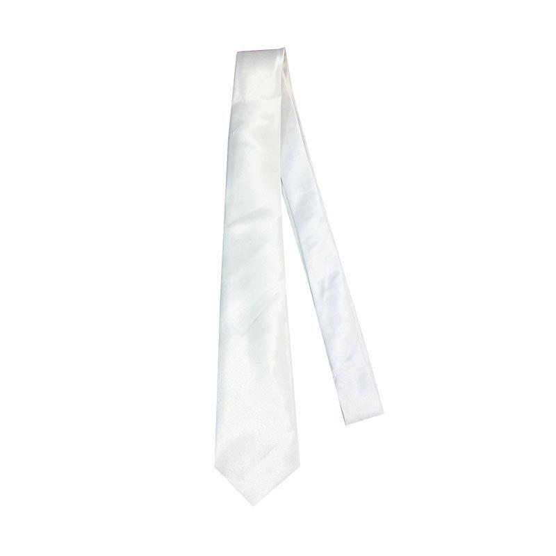 VM Slim Polos Putih Dasi [2 Inch]