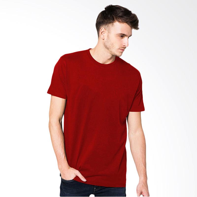 VM Simple Merah Kaos Pria [S]
