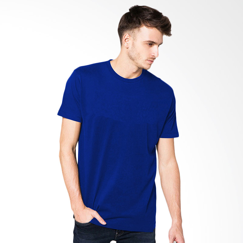 VM Simple Electric Blue Kaos Pria [XL]