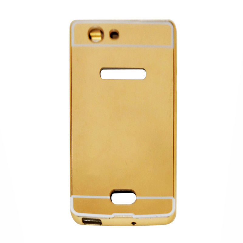 harga VR Bumper Mirror Alumunium Metal Sliding Hardcase Casing for Oppo Neo 5 A31T - Gold Blibli.com