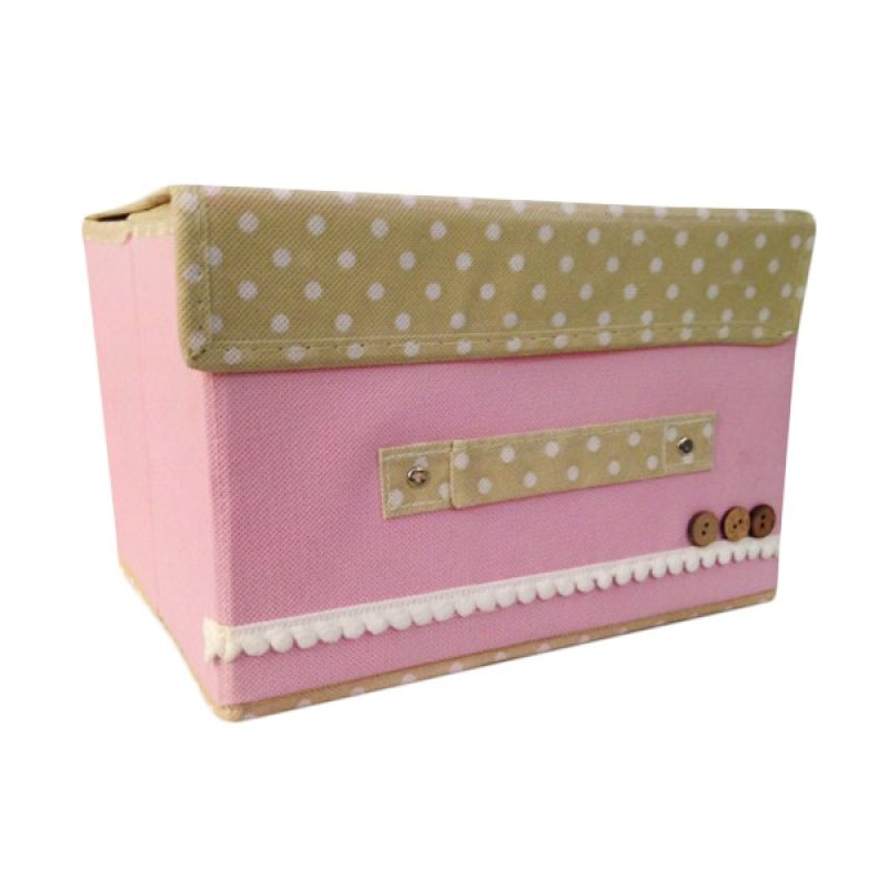 Vronique Boutique Foldable Small Storage - Pink