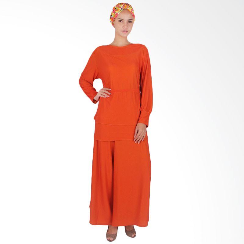 Vstyle Muslim One Stel Plain Orange J025