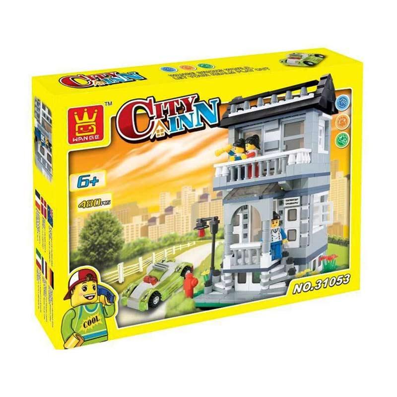 Wange 31053 City Inn Mainan Blok & Puzzle