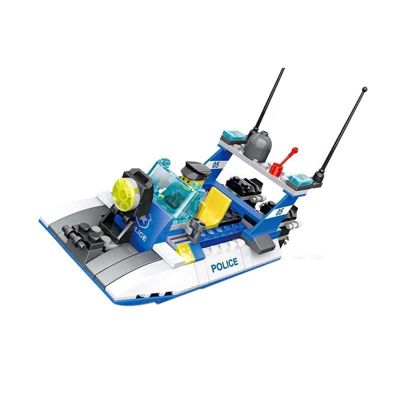 Wange 51015 Police Boat Mainan Blok & Puzzle