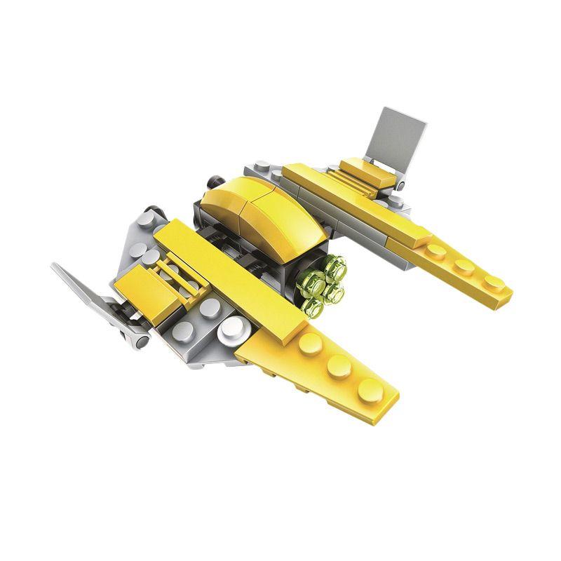 WANGE 56171 Starfighter Mainan Blok & Puzzle