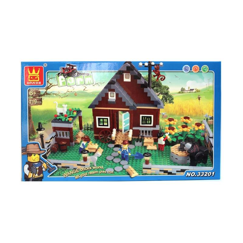 harga Wange Brick Farm Model Blocks & Stacking Toys [719 pcs] Blibli.com