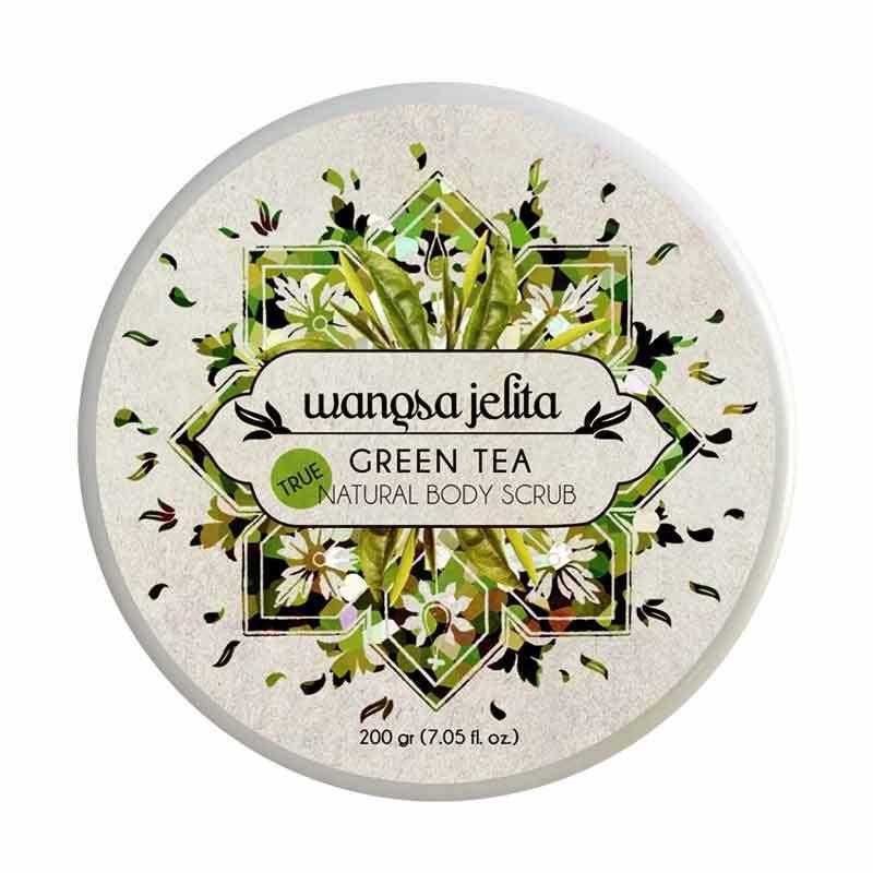 Wangsa Jelita Green Tea Natural Body Scrub (200 gram)