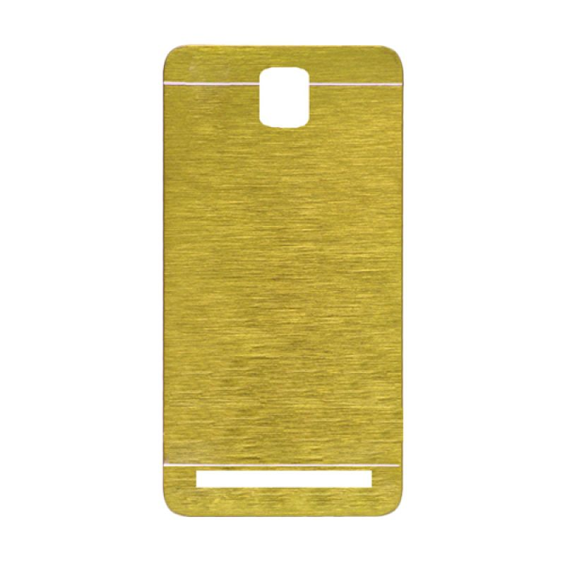 Motomo Gold Hard Case Casing for Asus Zenfone C