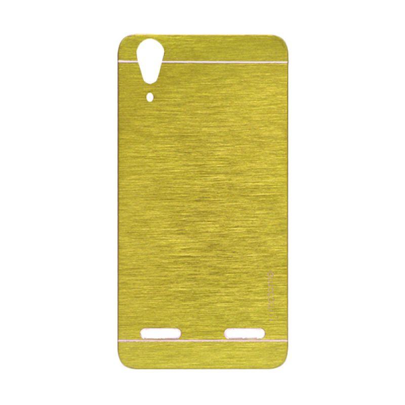 Motomo Gold Hard Case Casing for Lenovo A6000