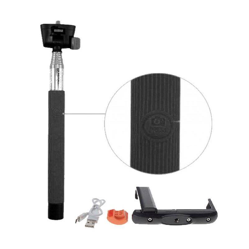 PRO Bluetooth Camera Tongsis dan Holder Big L Hitam
