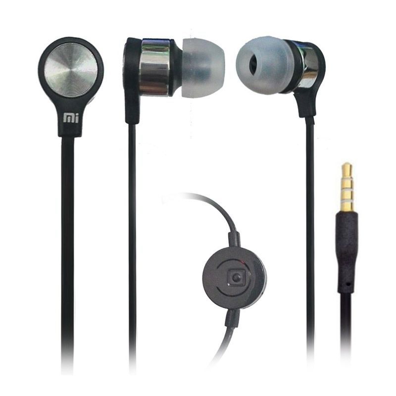 Xiaomi Handsfree Hitam Headset for Smartphone