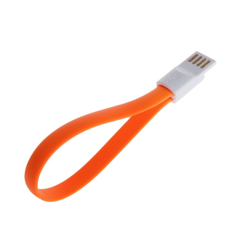 Pro Premium Magnetic Oranye Micro USB Data Cable