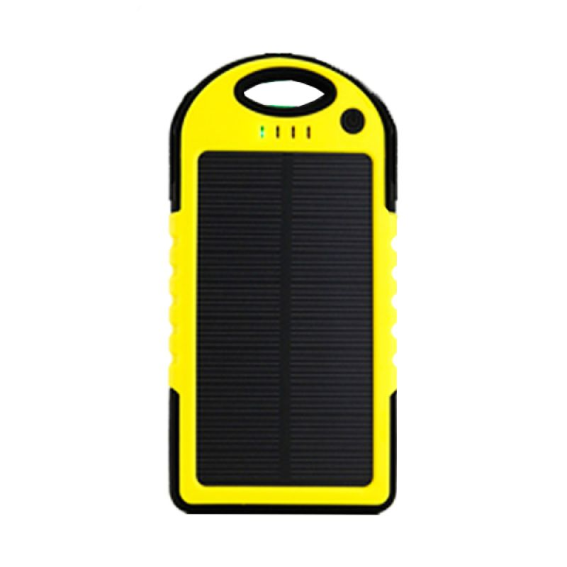 Wanky Solar Cell Slim Body Kuning Powerbank [5000 mAh]