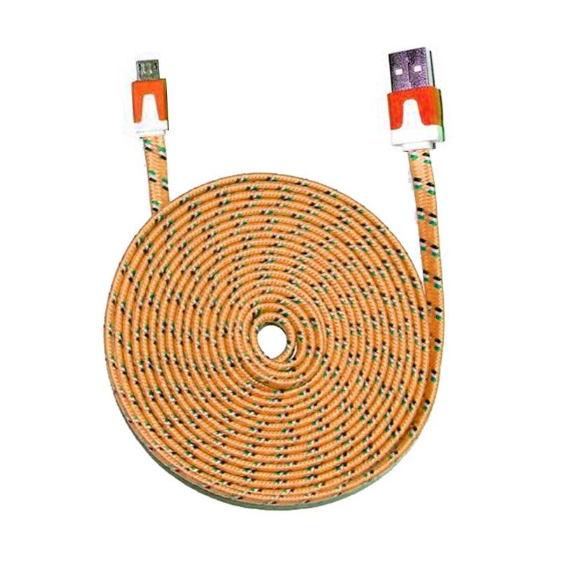 PRO Tali Sepatu Orange USB Data Cable
