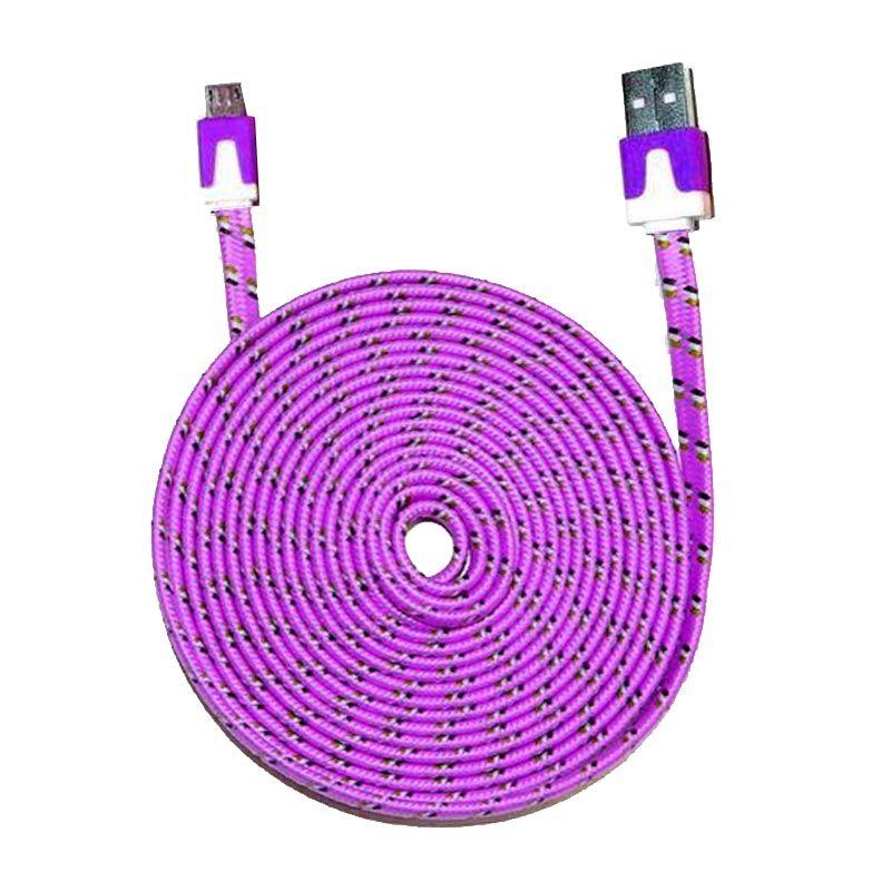 PRO Tali Sepatu Ungu USB Data Cable