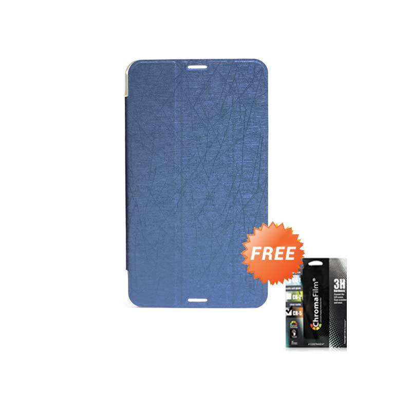 Transcover Book Cover Biru Casing for Asus Fonepad 7 FE170CG + Screen Protector