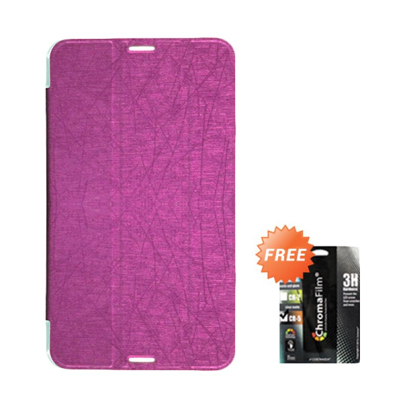Transcover Book Cover Pink Casing for Asus Fonepad 7 FE170CG + Screen Protector