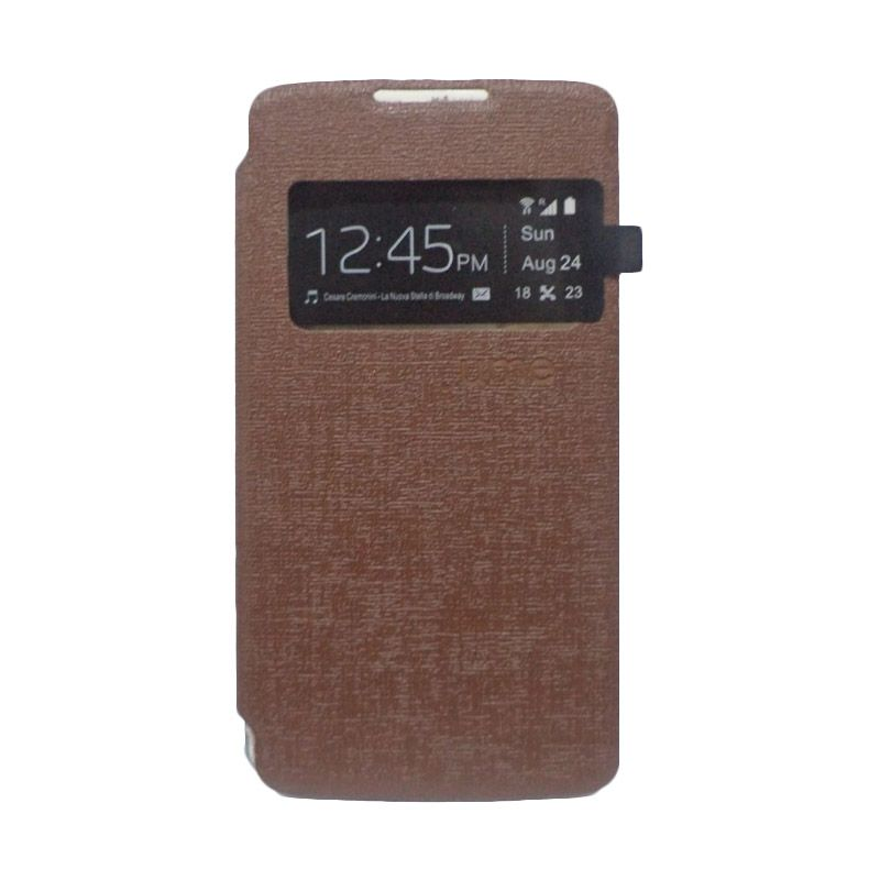 UME USA Coklat Flip Cover Casing for Lenovo A6000