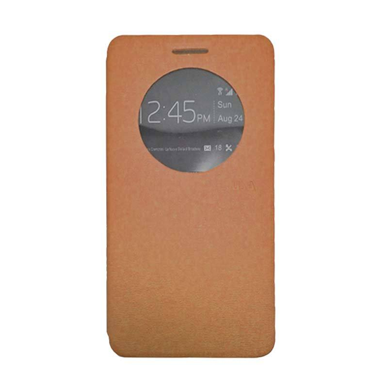 UME USA Coklat Flip Cover Casing for Asus Zenfone 5