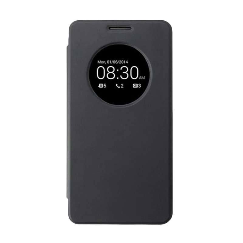 UME USA Hitam Flip Cover Casing for Asus Zenfone 6