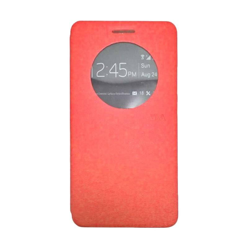 UME USA Merah Flip Cover Casing for Asus Zenfone 5