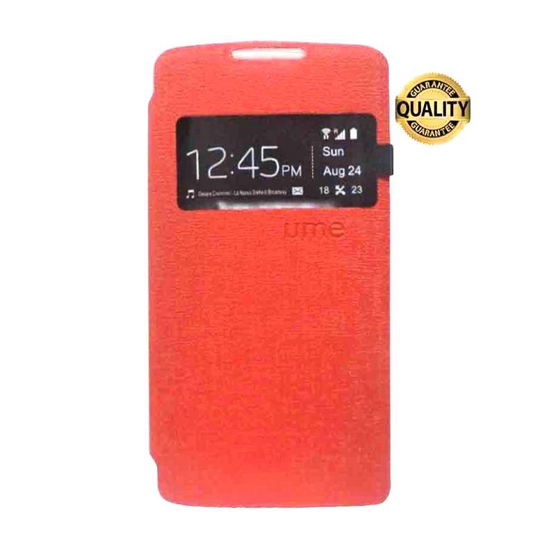 UME USA Flipcase Merah Casing for Lenovo A6000