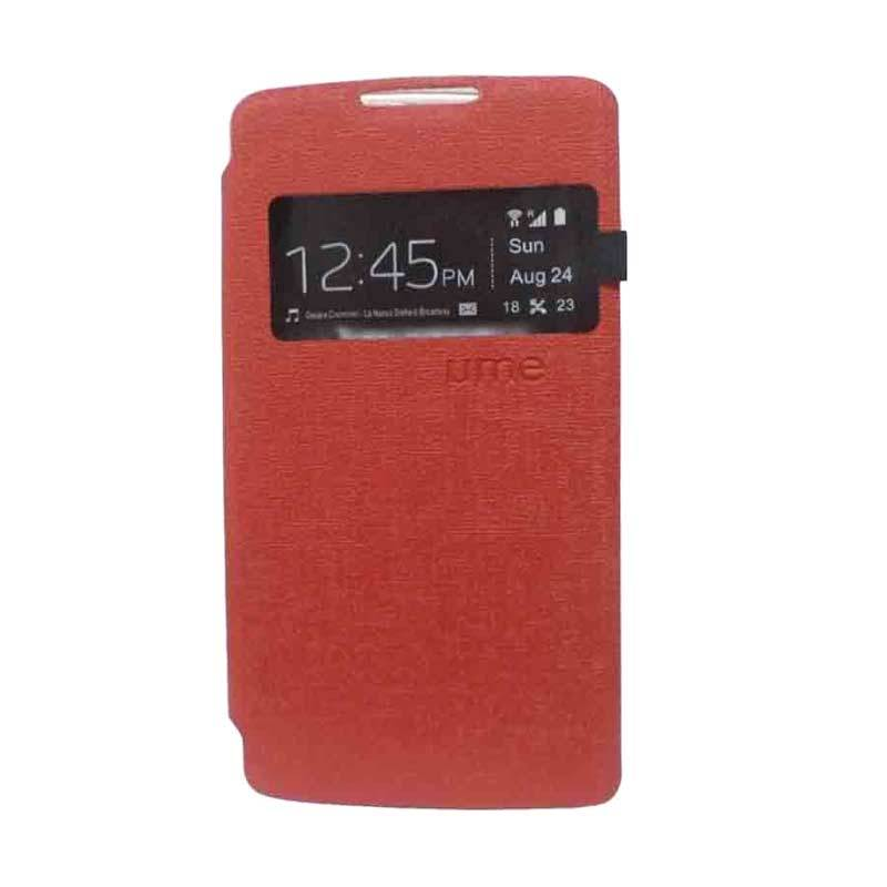 UME USA Flipcase Merah Casing for Lenovo A7000