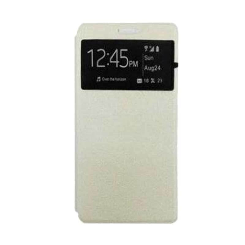 UME USA Flipcase Putih Casing for Lenovo A6000