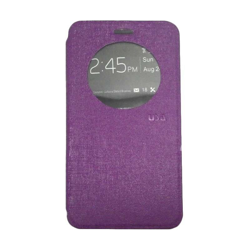 UME USA Ungu Flip Cover Casing for Asus Zenfone 6